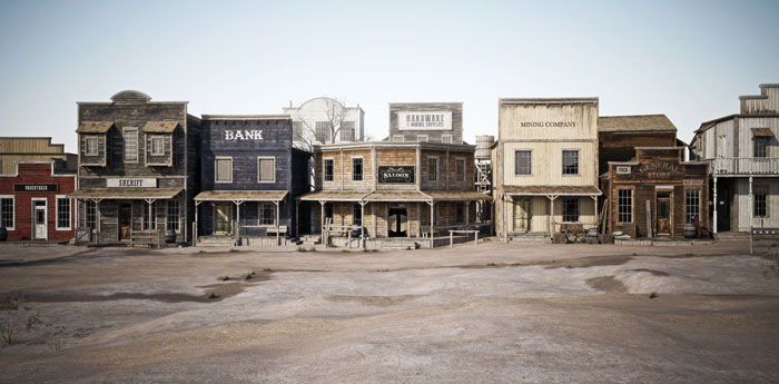 A Photo of One of the Creepiest Ghost Towns in America.